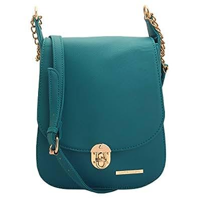 Lapis O Lupo Women's Turquoise PU Sling Bag