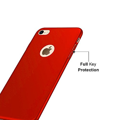 iphone 6 Plus Hülle Gold, iphone 6 Plus Schutzhülle,iphone se HandyHülle, Einfach Einfarbig Muster Design Handy Hülle für iphone 6 6s Plus (5.5 Zoll), Ultra Dünn PC Kunststoff Abnehmbar Handycover Sch rot