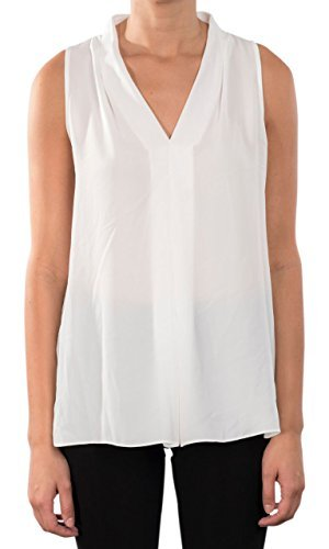 Joseph Ribkoff V-Neck Chiffon Camisole with Inverted Front Pleat - Style 171286