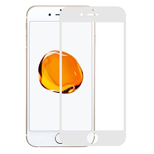 Pomelo Best Panzerglas Schutzfolie für iPhone 7 iPhone 8 Displayschutzfolie 3D Vollständige Abdeckung 99% Transparenz 9H Hartglas (4,7, Weiß)