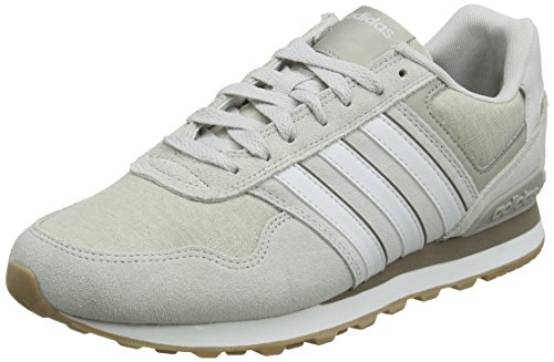 adidas 10K, Scarpe da Ginnastica Uomo, Grigio (Grey One F17/Crystal White S16/Light Brown), 41 1/3 EU
