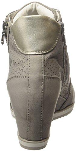 Geox D Illusion A, Baskets Hautes Femme Grau (Hellgrau)