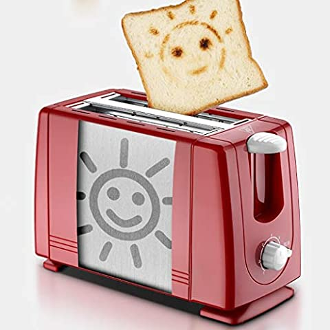 GJM-Shop-Tostadora-7-Velocidades-Horneado-con-Temperatura-Controlada-Completamente-Automatico-2-Tabletas-Mini-Casa-Mquina-De-Desayuno-Color-Red