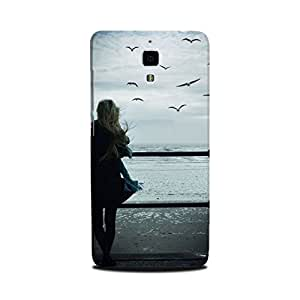 Xiaomi Mi 4 Designer Printed Case & Covers (Xiaomi Mi 4 Back Cover) - Alone Girl