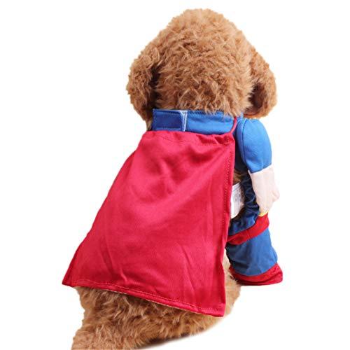 Lisay Dog Pet Puppy Fit Verkleidungen Niedlich Cat Pet Clothes Superman Super Dog Cat Puppy Halloween Costume Clothes Pet Dress