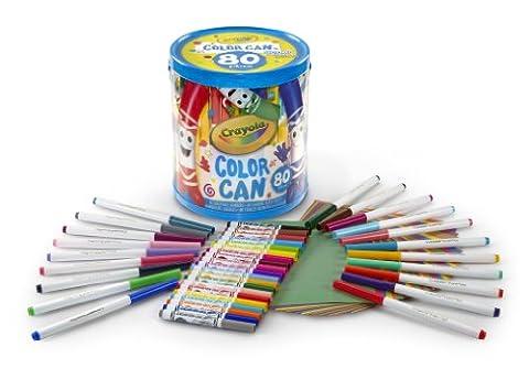 Crayola – SuperTips – Baril de Coloriage – 80 Pièces