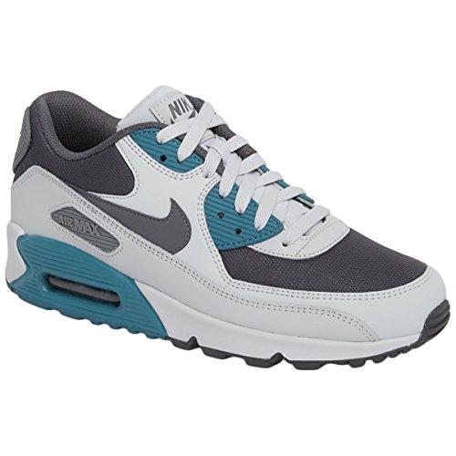 Nike Mens Air Max 90 Essential Pure Platinum Cool Grey Leather Mesh Trainers 42.5 EU