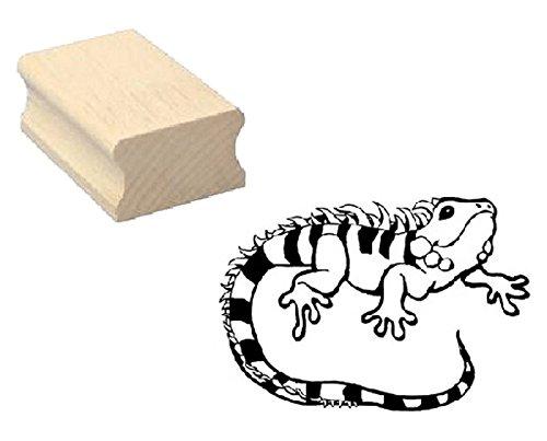 Stempel Holzstempel Motivstempel « LEGUAN » Scrapbooking - Embossing Kinderstempel Tierstempel Terrarium Echsen Kriechtier Zoo Tierpark