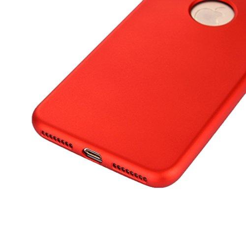 GR iPhone 7 Plus PC Cover Kombination Schutzhülle 360 Grad Shockproof Öl Auslauf Silikon zurück Fall ( Color : Gold ) Red