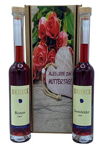 """Geschenkset Liköre""""Muttertag"""" Rosen und Dornfelder"""