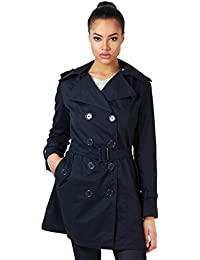 KRISP® Damen Klassischer Trench Coat Winter Mantel Jacke