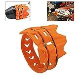 Kiiya-Auto motocicleta universal del sistema de escape del silenciador de escape moto Silenciador Protector for K T M SX exc SXF XC XCF EXCF EXCW XCF (Color : Orange)