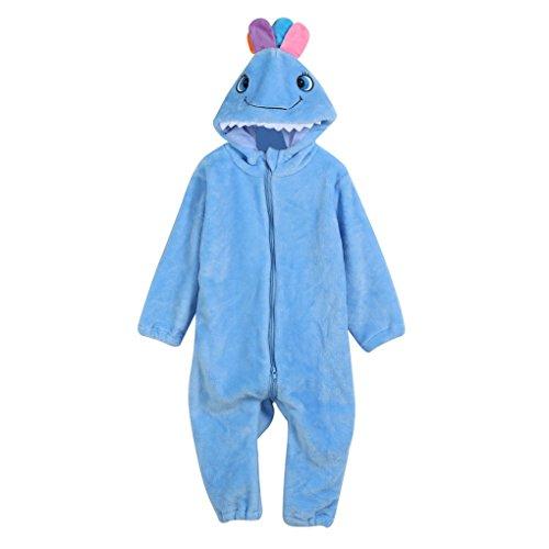 JYJMToddler Newborn Baby Boys Girls Animal Cartoon Hooded Rompers Outfits Clothes (Größe: 3Jahr, (Kostüm Muster Hooded Robe)
