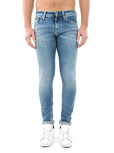 SELECTED 16048817 L.34 TWO MARIO MEDIUM BLUE DENIM JEANS Uomo MEDIUM BLUE DENIM 32