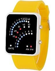 OverDose Damen Herren Futuristische Art Multicolor LED Sport Armbanduhr