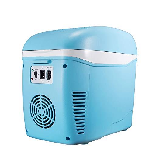 Tragbare elektrische Kühlbox Mini-Kühlschrank 7.5L Auto Kühlung und Erwärmung Thermoelektrisches System mit AC / DC-Adapter für Reisen, Picknick, Camping, Heim und Büro verwenden für Reisen und Campin -