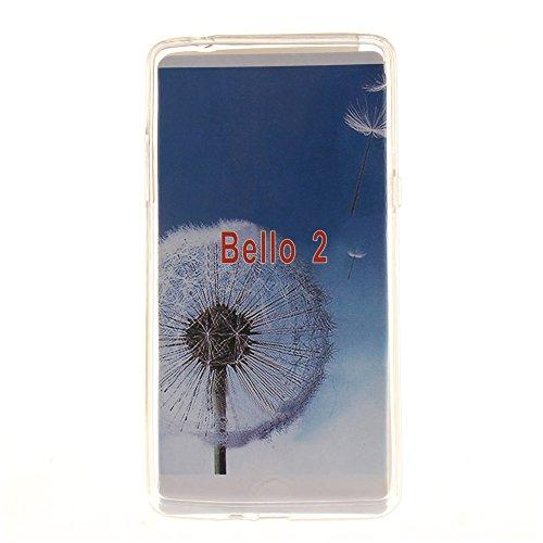 LG Bello II hülle MCHSHOP Ultra Slim Skin Gel TPU hülle weiche weiche Silicone Silikon Schutzhülle Case für LG Bello II - 1 Kostenlose Stylus (Briefpapier und Umschläge Stempel (Letter Paper and Envel Blumen Tribal Aztec (Flower Tribal Aztec)