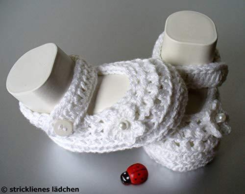 Babyschuhe Ballerinas Taufschuhe gehäkelt (Gehäkelte Ballerinas)