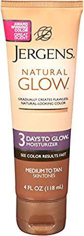 Jergens Natural Glow - 3 Days to Glow Moisturizer Medium to Tan (Selbstbräuner, Gesicht) (Tan Flawless Selbstbräuner)