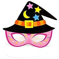 Haodou Halloween Party Cartoon Paper Mask Kindergarten Masquerade Prom Ball Party Pumpkin Bat Pirate Mask Cosplay Dress-Up Costume Accessory (Pink)