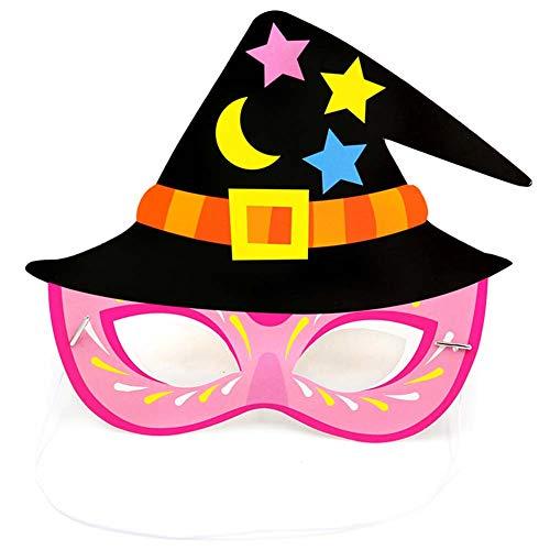 Weimay Halloween Maske Party Geheimnis Maske Cartoon Muster Papier Maske Kinder Maskerade Augenmaske