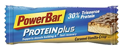 Powerbar Protein Plus 30% Vanilla-Caramel-Crisp Riegel, 3er Pack (3 x 55 g) (Powerbar Vanille Crisp)