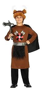 Atosa-20705 Disfraz Vikingo, Color marrón, 10 a 12 años (20705)
