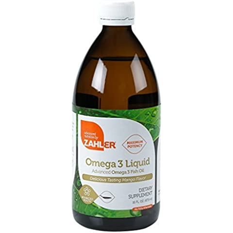 Zahler Omega 3 Liquid, Triple Strength All-Natural Pure Fish Oil