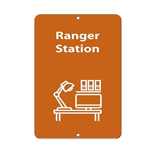 HSSS Ranger Station Aktivitätsschild Park Guide N to Z, Aluminium, 20,3 x 30,5 cm - Park Station