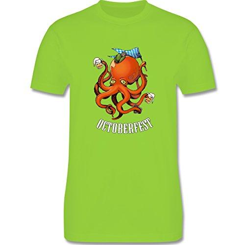 Oktoberfest Herren - Octoberfest Octopus - Herren Premium T-Shirt Hellgrün