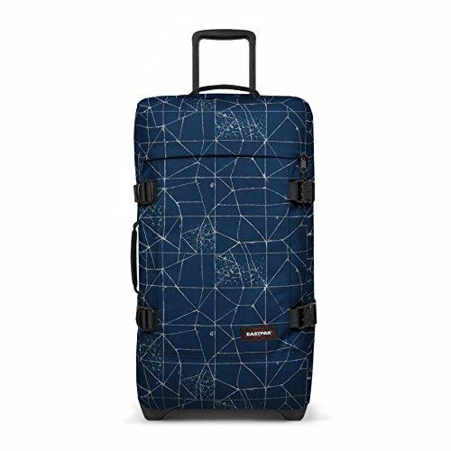 Eastpak Tranverz M Valise, 67 cm, 78 L, Bleu (Cracked Blue)