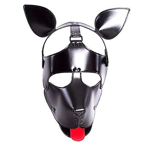Perücken Hund Kopf Maske/Rolle Spielen Volles Gesicht Nasenlöcher Atmungsaktiv Gurt Neutral Halloween Make-Up Maske/Einstellbare Größe Für Paare Und Homosexuell ()