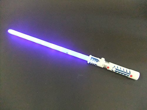 Sable láser LED con luz, sonidos y sensor de movimiento - Azul