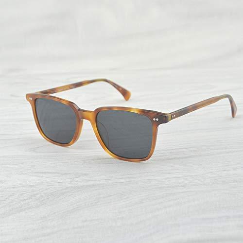 LKVNHP Hohe Qualität Klare Sonnenbrille Männer Markendesigner Frauen/Männer Vintage Brillen Fahren SonnenbrilleBernstein Gegen Grau