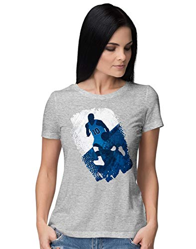 BLAK TEE Damen Grunge Basketball Player T-Shirt M - Golden Ash Grey-t-shirt