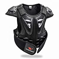 LLC-POWER Kid Body Armor Jacket, Children Chest Back Spine Protector Vest, Protective Gear Chest Protection Clothing, Hockey Knight Gear