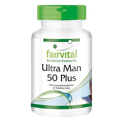 Ultra Man 50 Plus - für 1 Monat - HOCHDOSIERT - 60 Tabletten Multivitamin für Männer - über 50 Inhaltsstoffe