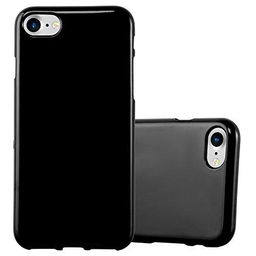 Preisvergleich Produktbild Cadorabo Hülle für Apple iPhone 7 / iPhone 7S / iPhone 8 - Hülle in Jelly SCHWARZ – Handyhülle aus TPU Silikon im Jelly Design - Silikonhülle Schutzhülle Ultra Slim Soft Back Cover Case Bumper