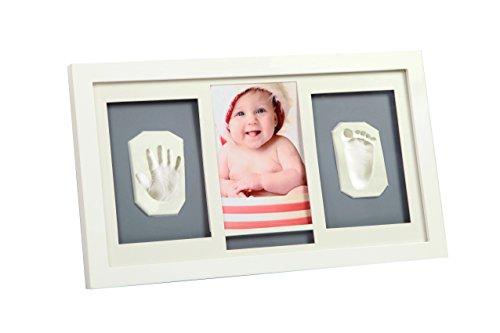 Preisvergleich Produktbild inklusive E-Book - Bilderrahmen mit Knetmasse für Hand/Fußabdruck deines Babys von Osje