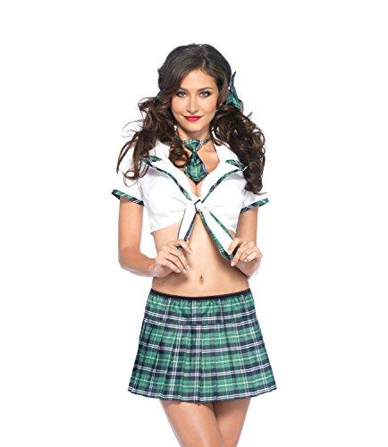 rge Grün/Blau Miss Prep School Kostüm (Prep School Kostüm)