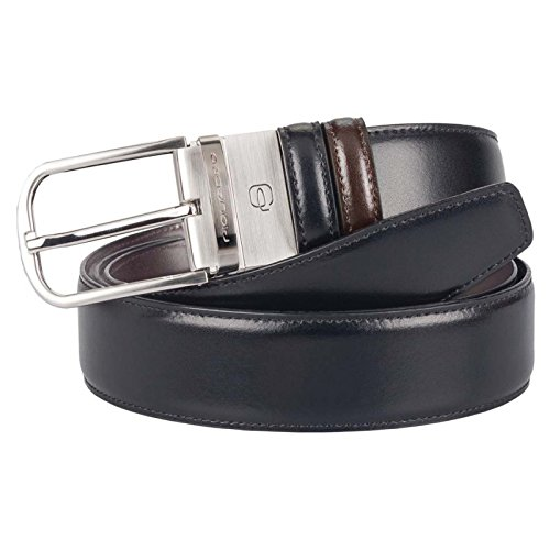 Piquadro Cintura uomo con fibbia ad artiglione nero/marrone CU3049C11/NEMA