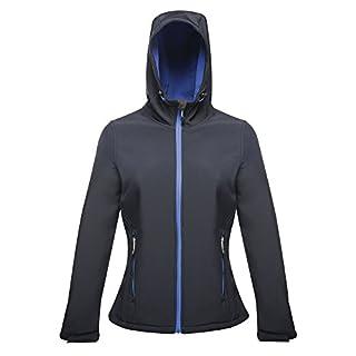 Regatta Standout Womens/Ladies Arley II Hooded Soft Shell Jacket (12 UK) (Navy/Dazzling Blue)