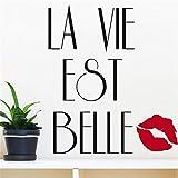 wandaufkleber kinderzimmer sterne La Vie Est Belle (Das Leben ist schön)