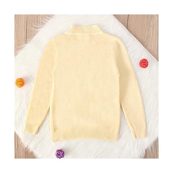 MEIbax Moda Casual Color sólido Baby Girl Suéter de Punto de Cuello bajo Niños Top de Manga Larga Suéter de Punto Niñas… 4
