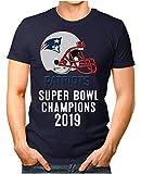 OM3® - Patriots-Champ - T-Shirt | Herren | American Football Shirt | L, Navy