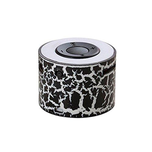 Lautsprecher im Freien Stilvolle Hohe Klangqualität Audio Player Tragbare Super Bass Stereo Mini Lautsprecher MP3 Player Geringe Verzerrung USB / TF Unterstützung für Smartphone Tablet Laptop (Black)