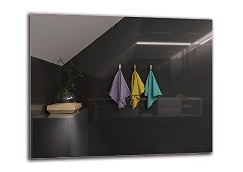 Spiegel Standard - Spiegel Rahmenloser - Spiegelmaßen 100x80 cm - Badspiegel - Wandspiegel - Badezimmer - Wohnzimmer - Küche - Flur - M1ST-01-100x80 - ARTTOR (Rahmenlose Badezimmer Spiegel)