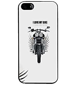 PrintDhaba Bike D-5598 Back Case Cover for APPLE IPHONE 4S (Multi-Coloured)