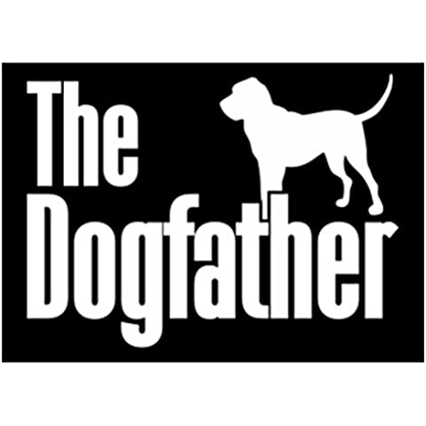 Teeburon The dogfather Bloodhound Vinyl Decal