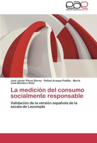 La medición del consumo socialmente responsable